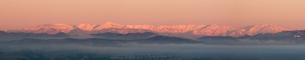 Snowfall on the Topatopa Mountains, Ventura County, CA